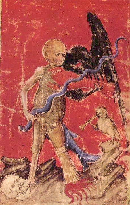 Aurora Consurgens Manuscript Fig8 Monkey Figure Plays A Strange Violin, Hermetic Emblems From Manuscripts 1